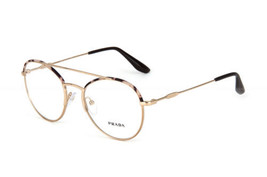 Prada Eyeglasses VPR55U UAO-1O1 Spotted Brown Pale Gold Frames Rx-ABLE 51MM - $148.49