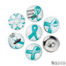 Large Teal Awareness Ribbon Snap Beads  - $4.09