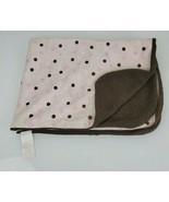 Koala Baby Toys R Us Pink Brown Polka Dot Sherpa Velour Fleece Baby Blanket - $29.20