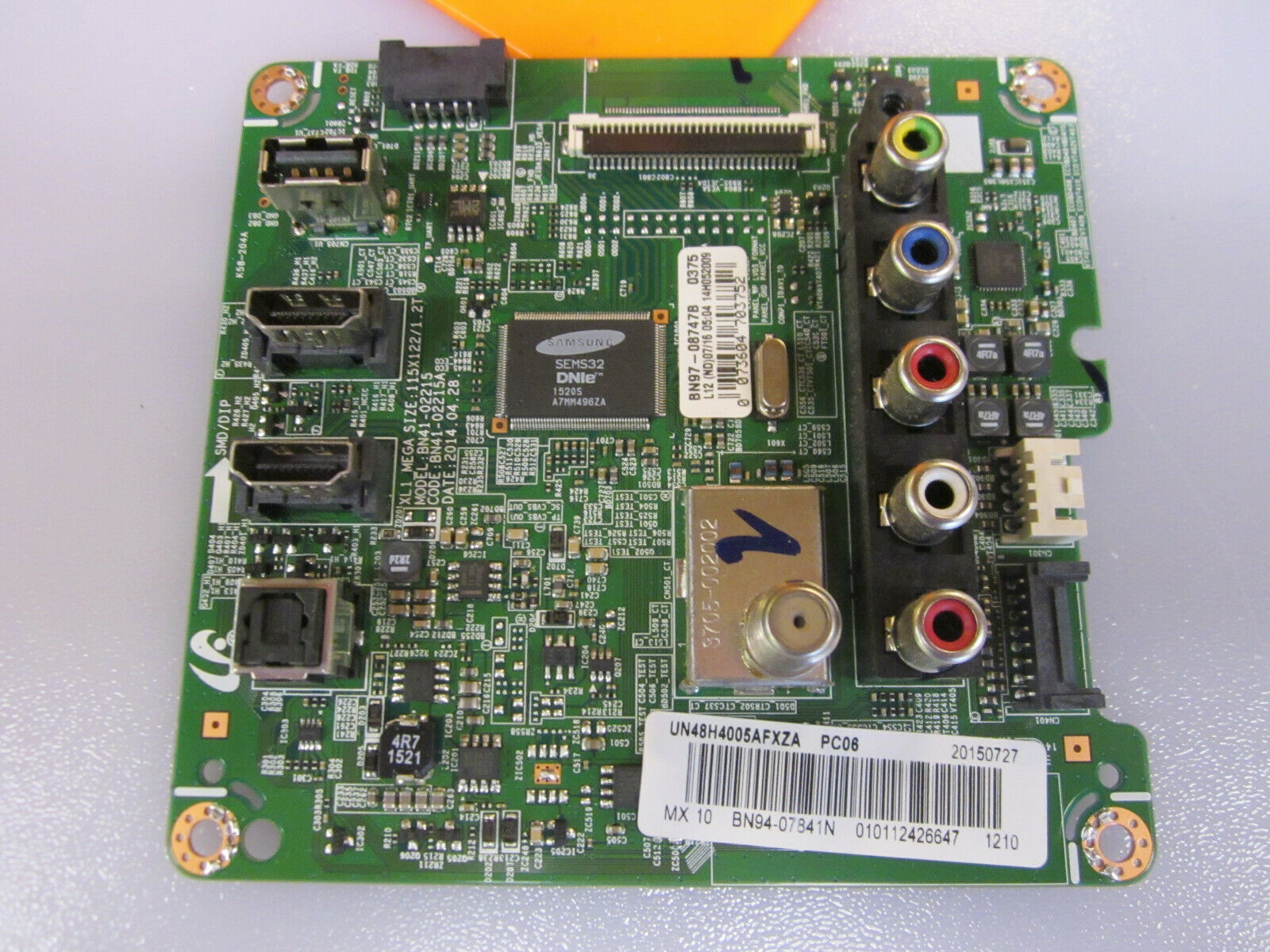 Samsung BN94-07841N Main Board for UN48H4005AFXZA US02