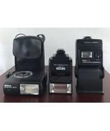 Lot Of 3 Flash Light (untested) Hanumex Sicor Nikon - $23.38