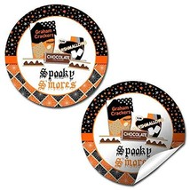 "Spooky S'mores Halloween Bonfire Thank You Sticker Labels, 40 2"" Party C... - $20.18"