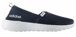 Adidas Women's Blue White CF Lite Racer Cloudfoam Slip On Sneaker Shoes AC8476 image 2