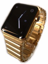 24K Gold Plated 42MM Apple Watch Series 2 With Modern Gold Link Band Custom - $854.05