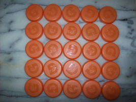 25 Clean ORANGE GATORADE Bottle Caps Tops Arts Crafts Supplies Projects ... - $5.63
