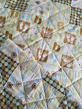 Buttons and Stripes Baby Boy Crib Quilt - $75.00