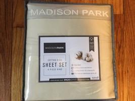 Madison Park 525 tc Cotton Rich Sheet Set Ivory KING - $44.54