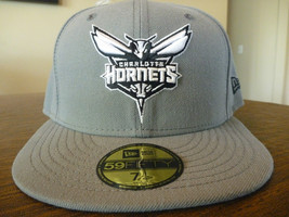 Charlotte Hornets New Era 59FIFTY Nba Storm Gray Fitted HAT/CAP Size 7 1/4 Nwt - $23.99
