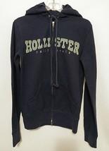 Hollister California Womens Hoodie Sweatshirt Double Zipper Blue Medium - $21.77