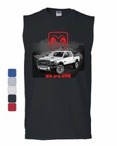 Dodge Ram White Truck Muscle Shirt Heavy Duty Pickup Truck Sleeveless - $19.07+