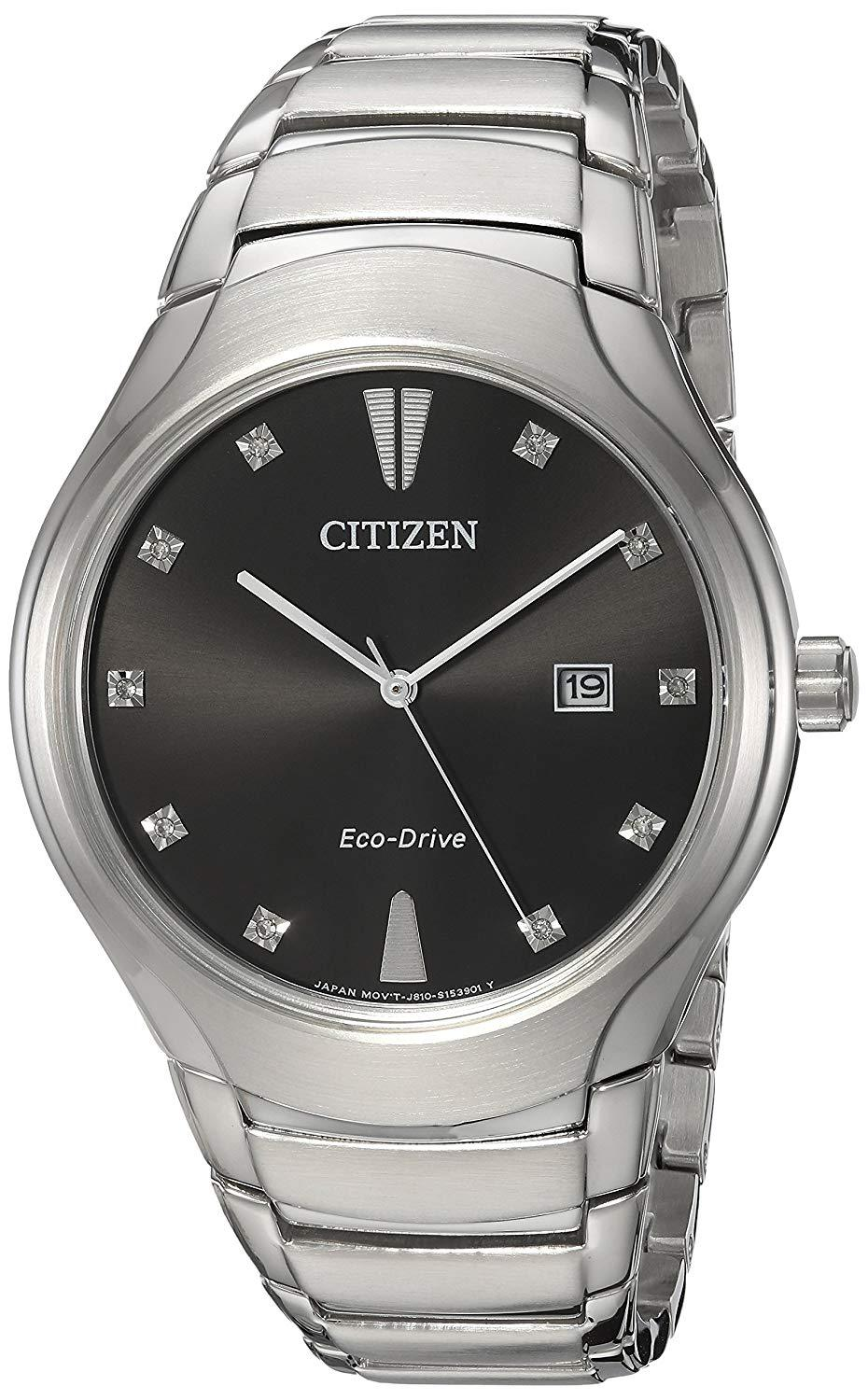 Citizen Men's 'Eco-Drive' Quartz Stainless Steel Casual Watch Silver-Toned AW155