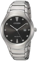 Citizen Men's 'Eco-Drive' Quartz Stainless Steel Casual Watch Silver-Toned AW155 image 1