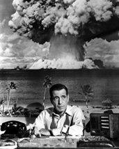 Humphrey Bogart In Deadline - U.S.A. Atomic Nuclear Explosion Behind Desk Vintag - $69.99