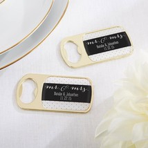 PersonalizedGold Bottle Opener - Mr. & Mrs.(24 Pcs)  - $75.99