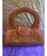 New Re-Mix Vintage Classics Artesan Hand Tooled Leather Purse Pocket Book  - $138.95