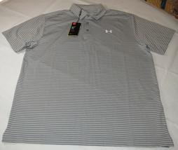 Under Armour UA HeatGear Golf UPF 30 Loose Polo shirt Mens XL 1253479 grey 026 - $45.43