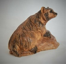 MINIATURE BADGER BIRCH WOOD CARVING SCULPTURE BY JOAN KOSEL - $107.53
