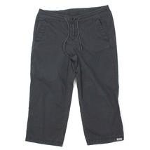 Woolrich Womens Crop Capri Pants BLK Nylon Spandex Blend Hiking Knickers Sz 14 - $14.24