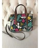 Fossil Hailey Dark Floral Satchel Handbag New FREE SHIPPING!!! - $79.99