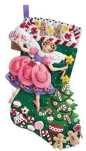 Bucilla 'Sugar Plum Fairy' Felt Christmas Stocking Stitchery Kit, 85431 - $25.99