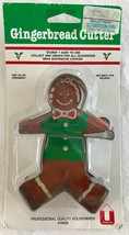 Gingerbread Boy Metal Cookie Biscuit Cutter Professional Quality New + R... - $6.89