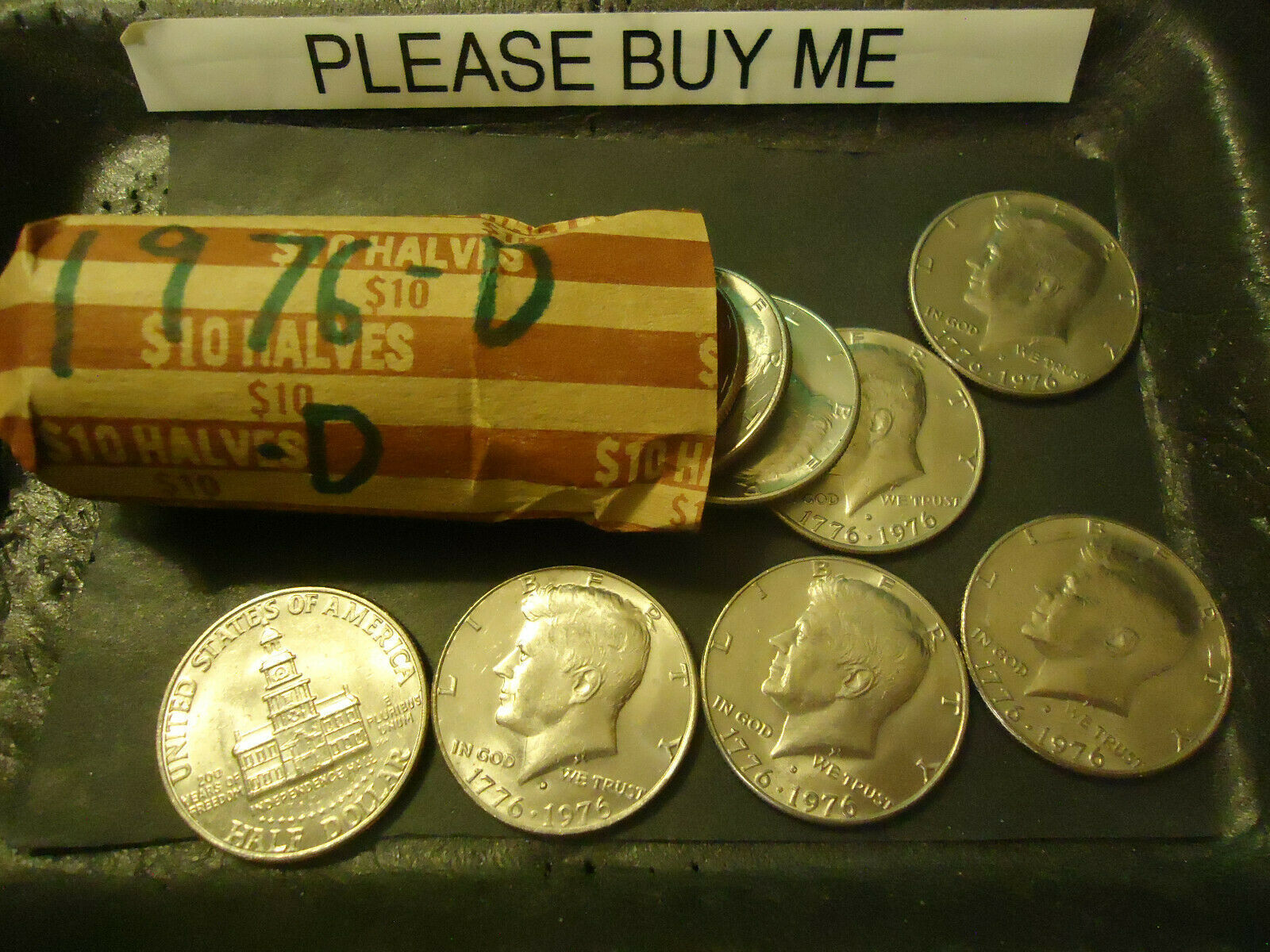 Primary image for 1976-D KENNEDY HALF DOLLAR ROLL         >> C/S & H