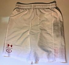 Under Armour Boys Youth Large UA Football Shorts 1326380-103 White  - $19.79