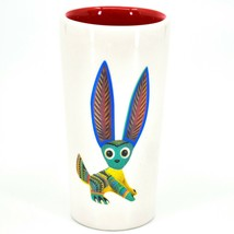 Jack Rabbit Alebrije Printed Ceramic Tequila Shot Glass Shooter Made in Mexico image 1