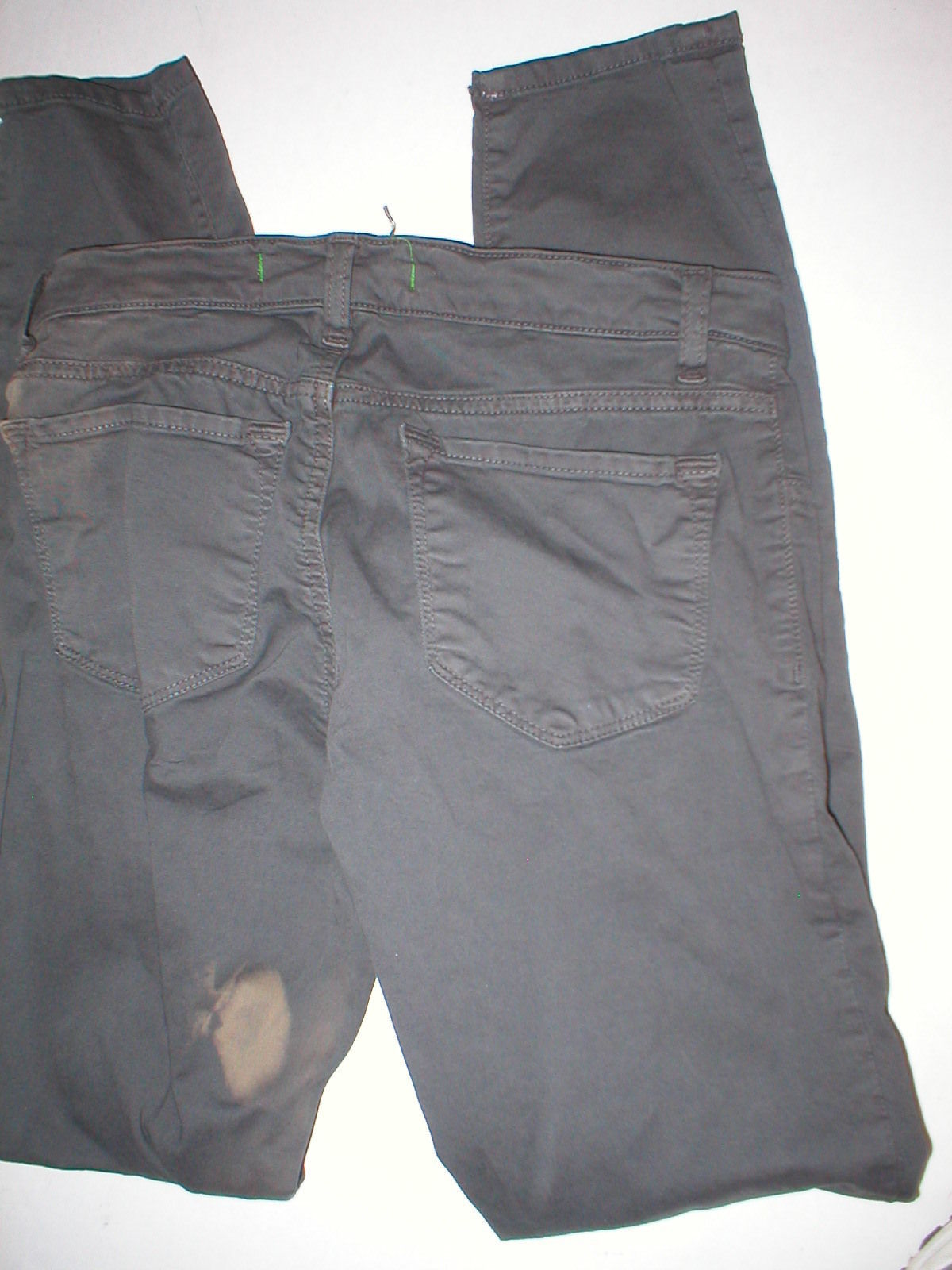 New J Brand Jeans Womens Skinny Pants Twill Machine Gray 24 Dark 26  28 Japanese image 4