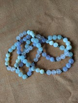 bead Vintage Sterling Silver Jade Quartz Mother Of Pearl Bead Necklace - $37.99