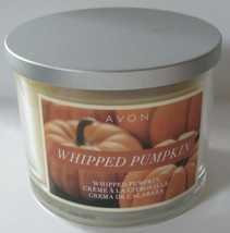 Avon Jar Scented Candle 3 Wick Burn Time 30 Hours Whipped Pumpkin - $11.75