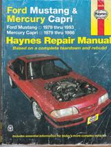 Ford Mustang 1979-1993 & Mercury Capri 1979-1986 Ghia & RS Haynes Repair Manual - $9.89