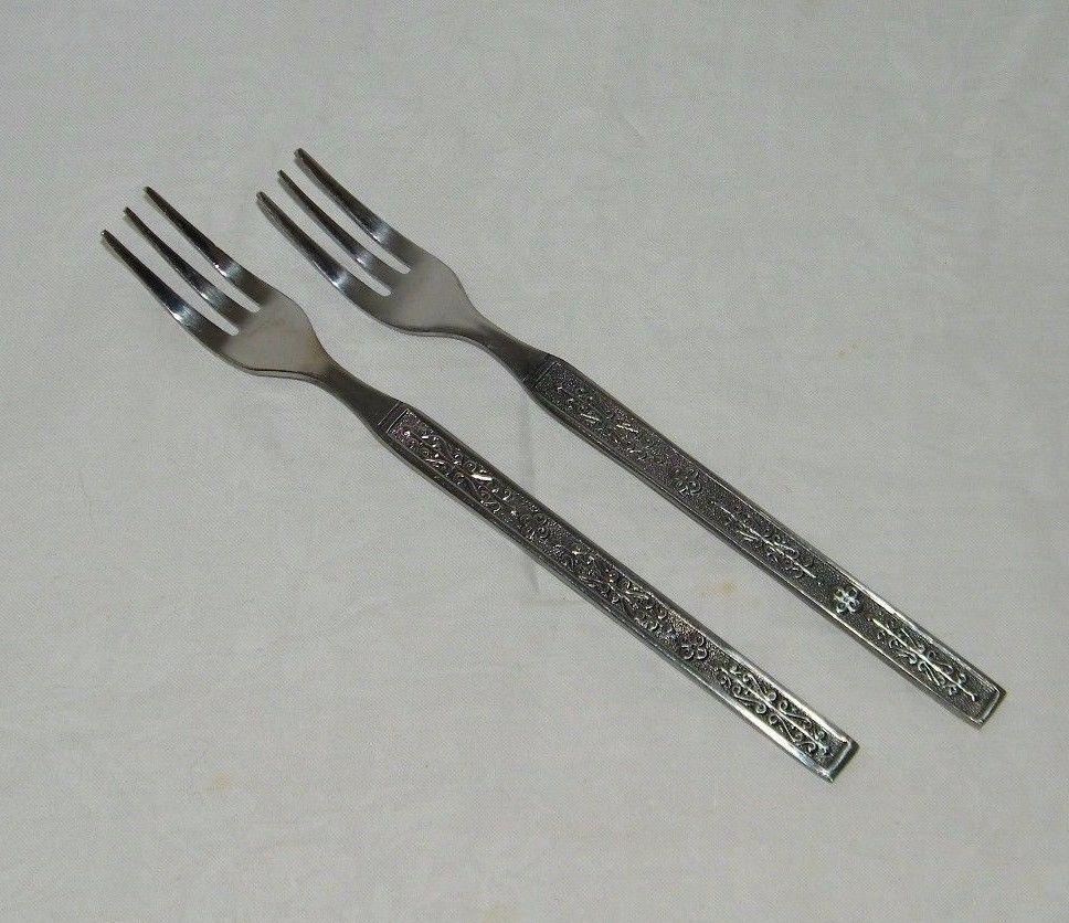 """Margaret Rose by National Sterling Silver Grille Fork 7 5//8/"""""""