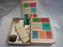 Singer 102880 Professional Buttonholer Button Holer In Orig Box Used Vin... - $18.69