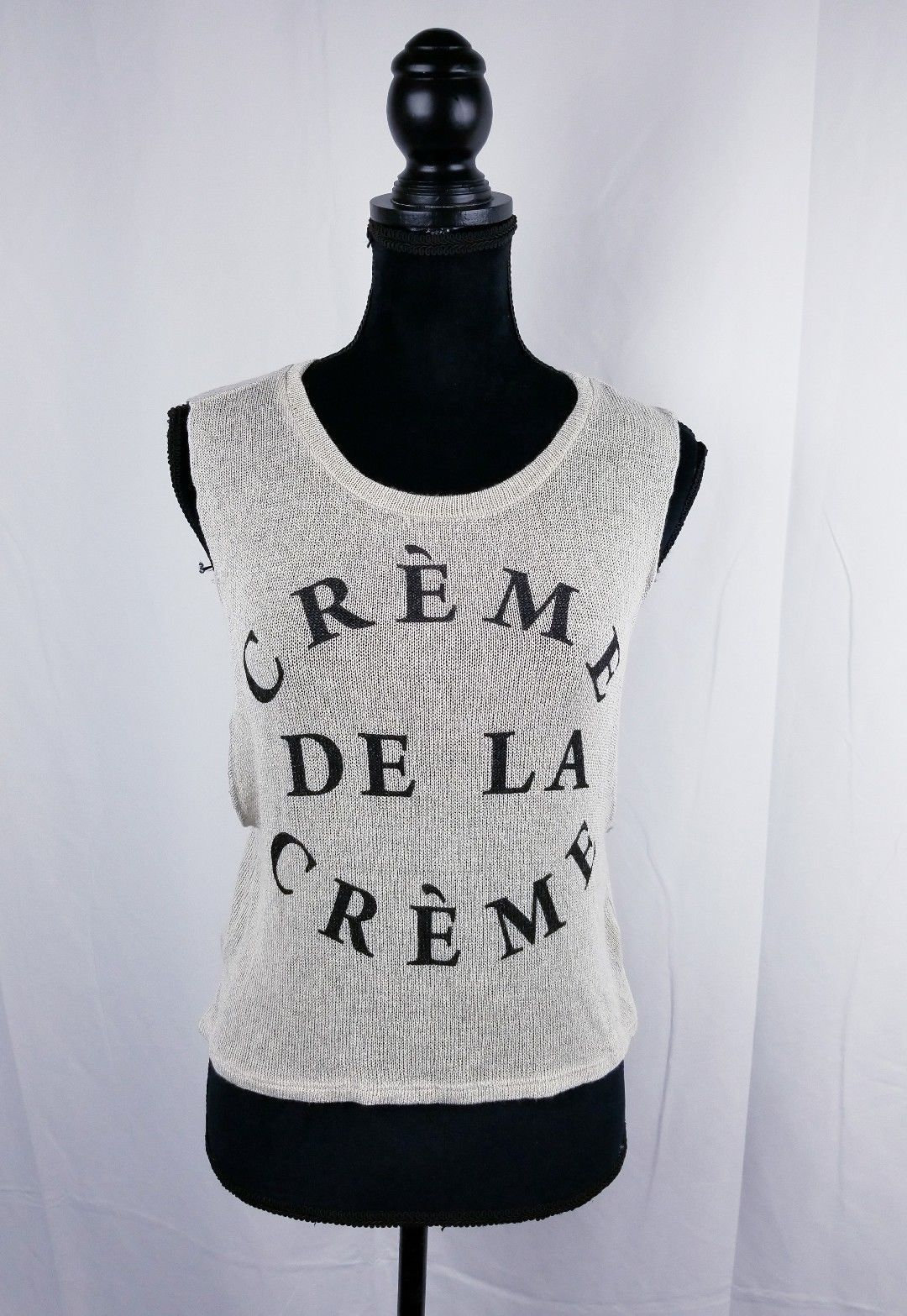 Primary image for Sleeveless Womens Top knit Top Beige Sz M Creme de la Creme Forever 21
