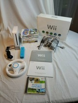 Nintendo Wii Video Game Console (RVL-001) Bundle GameCube Compatible 9 g... - $119.99