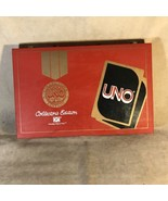 """Uno Card Game 1982 Collectors Edition in Red 15"""" x 9.5"""" Briefcase Hard Case - $197.99"""