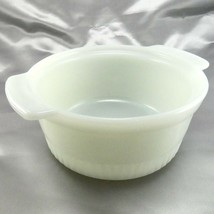 "Fire-King 1436 Soufflé Dish Ribbed 6"" Milk Glass 1qt Casserole Serving Bowl - $24.95"