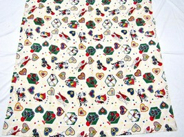 """(2x) 57"""" x 57"""" inch Square Printed Tablecloth Made in Portugal, Folklore - $39.55"""