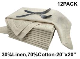 Flax by Flax (30%Linen,70% cotton) Unique Designer Premium Hemstitched D... - $39.04