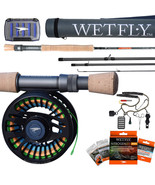 NEW WETFLY Nitrolite SD Fly Fishing Rod and Reel Complete Outfit, 9FT 8 WT  - $409.99