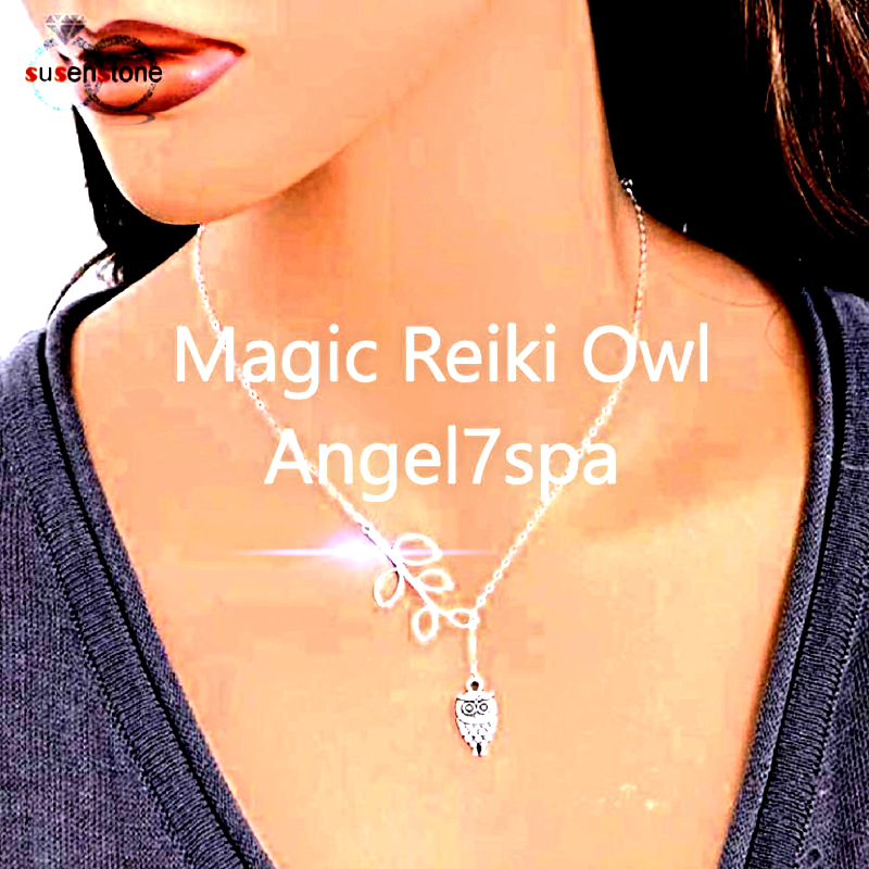 Magic celtic shamanic Owl turn around my life in a positive way Necklace spell