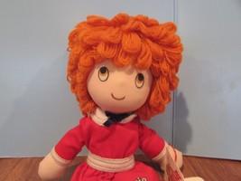 """1982 Applause Little Orphan Annie Doll 12"""" Soft Body with Orange Yarn Ha... - $21.04"""