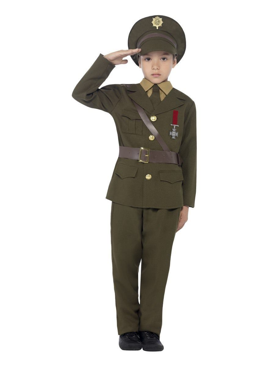 Smiffy's Army Officer Military Commander Child Unisex Halloween Costume 27536