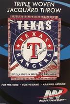 "Texas Rangers 48"" X 60"" Woven Jacquard Afghan Throw Blanket Free Shipping - $16.25"