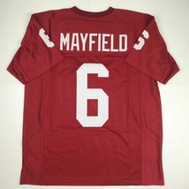 New BAKER MAYFIELD Oklahoma Red College Custom Stitched Football Jersey ... - $49.99