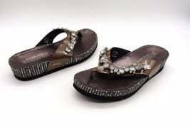 MEPHISTO Size 37 Brown Bronze Metallic Rhinesto... - $65.00