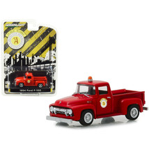 1954 Ford F-100 Pickup Truck Red Public Works Arlington Heights, Illinoi... - $21.08