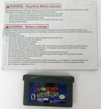 Worms World Party GBA Game Nintendo Game Boy Advance Cartridge and Manual - $9.49