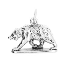 STERLING SILVER TRAVEL 3D BEAR BAR HARBOR MAINE CHARM PENDANT image 1